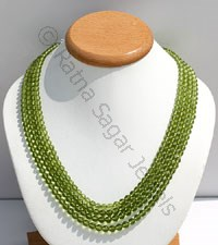 Peridot Gemstone Beads-Faceted Rounds
