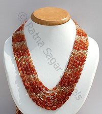 Sunstone Gemstone oval Faceted