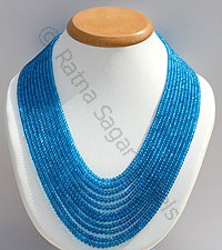 Apatite Gemstone Beads-Faceted Rondelles