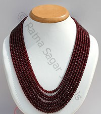 Garnet Gemstone-Faceted Rondelles