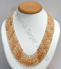 Imperial Topaz Faceted Oval Necklace