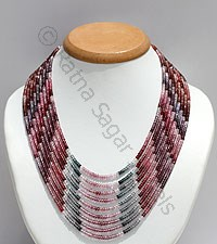 Multi Spinel-Faceted Rondelles