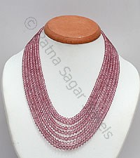 Pink Topaz Gemstone-Faceted Rondelles