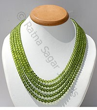 Peridot Gemstone Faceted Rounds