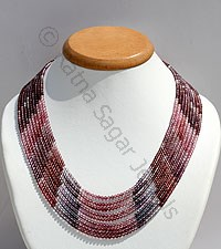 Multi Spinel Faceted Rounds Necklace