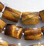 Tiger Eye Faceted Rectangle