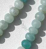Amazonite Beads-Faceted Rondelles