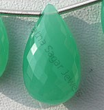 Chrysoprase Flat Pear Briolette