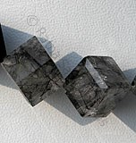 Black Rutilated Quartz Faceted Cube