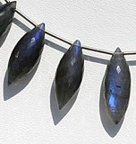 Labradorite Blue Power Dew Drop Beads