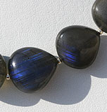 Labradorite Blue Power Heart Plain Beads