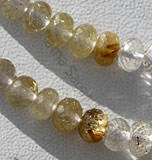 Golden Rutilated Quartz  Faceted Rondelles