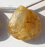 Golden Rutilated Quartz  Heart Briolette