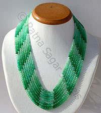 Chrysoprase Gemstone-Faceted Rondelles