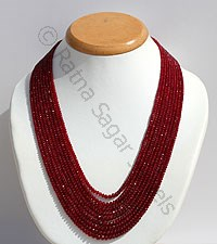 Ruby Gemstone-Faceted Rondelles