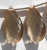 Champagne Citrine  Twisted Flat Pear