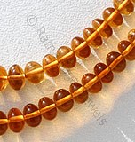 Citrine Gemstone-Plain Beads