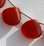 Carnelian Gemstone-Twisted Heart Briolette