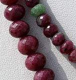Ruby Zoisite  Faceted Rondelles