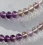 Ametrine Gemstone Beads  Faceted Rondelles