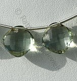 Green Amethyst Gemstone Cushion Beads