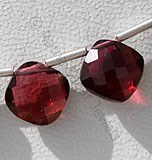 Rhodolite Garnet Cushion Shape Beads
