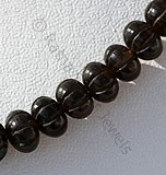 Smoky Quartz Gemstone Carved Beads