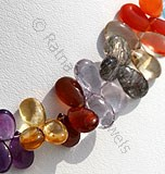 Semi Precious Gemstone Flat Pear Plain