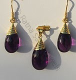 18 K Gold earring with Pendent