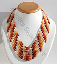 Mexican Fire Opal Plain Beads Necklace