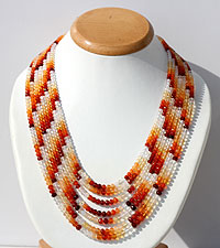 Mexican Fire Opal Faceted Rondelles Necklace