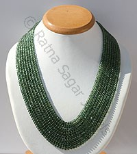Green Apatite Faceted Rondelle