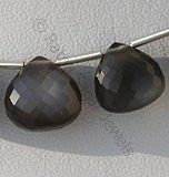 Black Moonstone Heart Briolette