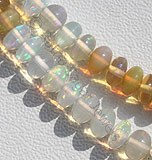 Ethiopian Welo Opal Plain Rondelle