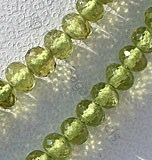 Vesuvianite Faceted Rondelles
