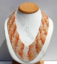 Oregon Sunstone Faceted Rondelle Necklace
