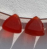 Carnelian Gemstone Trilliant Cut