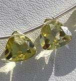 Lemon Quartz  Trilliant Beads