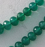 Green Onyx Faceted Rondelle