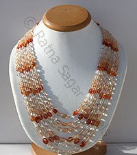 Sunstone Faceted Oval Necklace