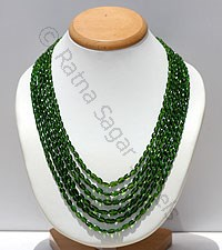 Chrome Diopside Faceted Oval Necklace