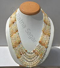Ethiopian Opal Faceted Oval Necklace