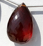 Spessartite Garnet Flat Pear Briolette