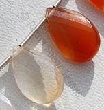 Mexican Fire Opal  Gemstone  Twisted Flat Pear