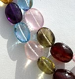 Semi Precious Multi  Faceted Nuggets
