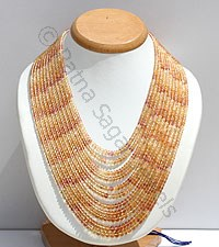 Imperial Topaz Faceted Rondelles Necklace