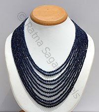 Sapphire Faceted Round Necklace