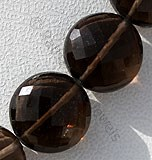 Smoky Quartz Gemstone  Coin