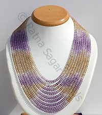 Ameetrine Gemstone Beads Necklace