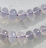 Lavender Quartz Faceted Rondelle